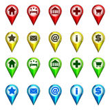 Destination icon navigation collection vector Stock Image