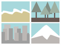 Destination icons Stock Photography