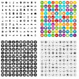 100 destination icons set vector variant. 100 destination icons set vector in 4 variant for any web design isolated on white Royalty Free Stock Images
