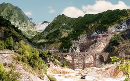 Destination Italy - Ponti di Vara, Carrara Stock Images