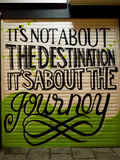 Destination and Journey phrase Royalty Free Stock Photography
