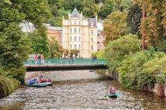Destination médicale historique de voyage de station thermale, République Tchèque, l'Europe Photos libres de droits
