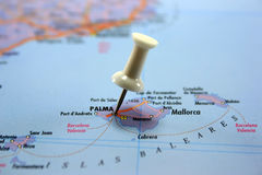 destination mallorca Royaltyfria Foton