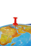 Destination on a Map Stock Images