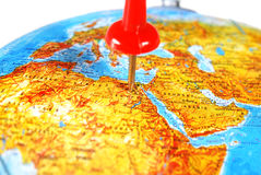 Destination on a Map Royalty Free Stock Image