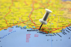 destination marseille Royaltyfri Bild