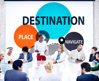 Destination Navigate Exploration Place Travel Concept Stock Photo