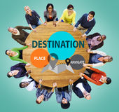 Destination Navigate Exploration Place Travel Concept Royalty Free Stock Photo