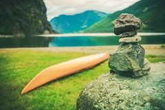 Destination Norway Cairn Royalty Free Stock Image