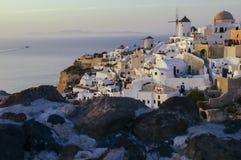 Destination och landskap för Santorini ölopp Arkivbilder