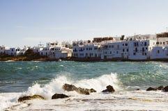 Destination och landskap för Santorini ölopp Royaltyfri Foto