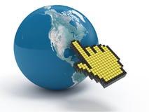 Destination Point. Global Internet navigator 3d concept on white vector illustration