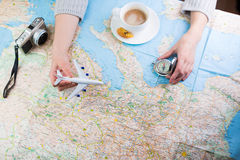 Destination points. Royalty Free Stock Image