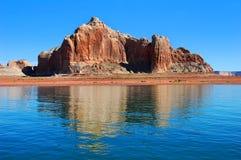 Destination scenisk sjö Powell Arkivbilder