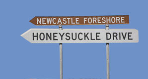 Destination sign Newcastle Royalty Free Stock Images