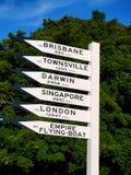 Destination Sign Royalty Free Stock Image