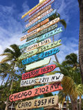 Destination Signpost Stock Photos