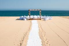 Destination wedding. A gazebo set up for a destination wedding in Cabo San Lucas, Baja California Sur Stock Image