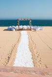 Destination wedding. A gazebo set up for a destination wedding in Cabo San Lucas, Baja California Sur Royalty Free Stock Images