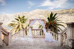 Destination wedding arch Royalty Free Stock Images