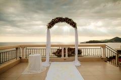 Destination wedding arch Stock Photography