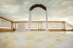 Destination wedding arch Royalty Free Stock Photography