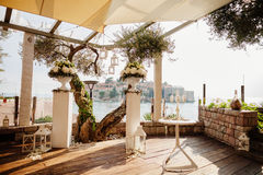 Destination wedding ceremony arch Royalty Free Stock Images
