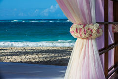 Destination wedding at tropical resort Stock Photography