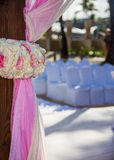 Destination wedding at tropical resort Royalty Free Stock Photos