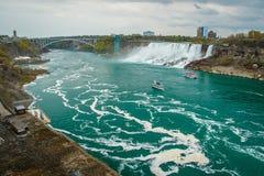 Destinationen av Niagara Falls från den kanadensiska platsen, Ontario, Kanada Arkivfoton