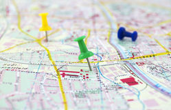 Destinations. Two destinations on European map Royalty Free Stock Photo