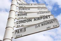 Destinations de l'Europe Photo stock
