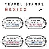 Destinations de voyage du Mexique illustration libre de droits