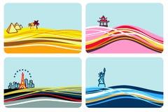 destinationslopp vektor illustrationer