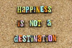 Destinationsresa för lycka inte royaltyfri foto