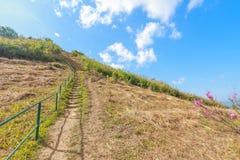 Destinazione alla vista superiore della montagna Fotografia Stock Libera da Diritti