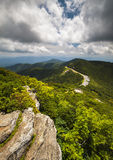Destinazione blu di viaggio di vacanza di Ridge Parkway Craggy Gardens Asheville NC fotografia stock