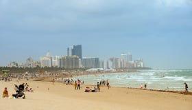 Destinazione del turista della spiaggia Fotografia Stock Libera da Diritti