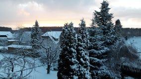 Destinazione della neve landscape Immagine Stock Libera da Diritti