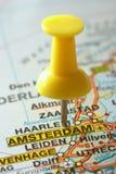 destinazione di Amsterdam Fotografia Stock