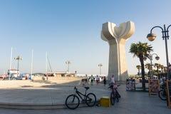 Destinazione di vacanze estive di Vodice Croazia durante il Sunny Dusk Aug Fotografie Stock Libere da Diritti