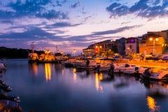 Destinazione E di vacanza dell'oceano del paesaggio di Tribunj Croazia bella Immagini Stock Libere da Diritti