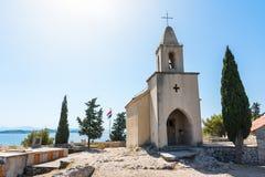 Destinazione E di vacanza dell'oceano del paesaggio di Tribunj Croazia bella Immagine Stock Libera da Diritti