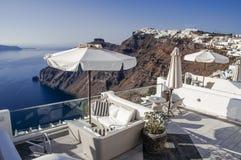 Destinazione e paesaggio di viaggio dell'isola di Santorini Immagine Stock Libera da Diritti