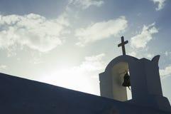 Destinazione e paesaggio di viaggio dell'isola di Santorini Immagine Stock