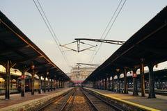 Destinazione finale Stazione ferroviaria immagine stock