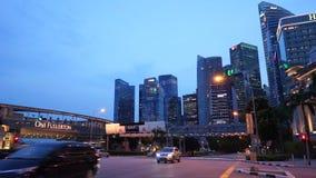 Destinazione moderna del centro finanziario della metropoli di Singapore video d archivio