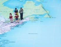 Destinazione New York di concetto di vacanza di famiglia Fotografia Stock
