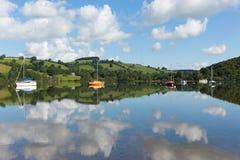 Destinazione turistica BRITANNICA popolare Ullswater Cumbria Inghilterra del nord del distretto del lago la bella di estate Immagini Stock