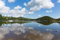 Destinazione turistica inglese Ullswater Cumbria Inghilterra del nord del distretto del lago la bella di estate Immagini Stock